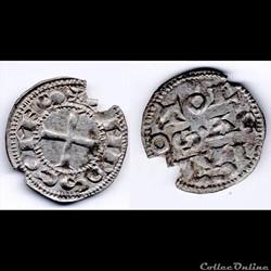 OBOLE D'ALFONSE JOURDAIN (1112 - 1148)