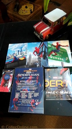 Cartes et goodies Spiderman Homecoming