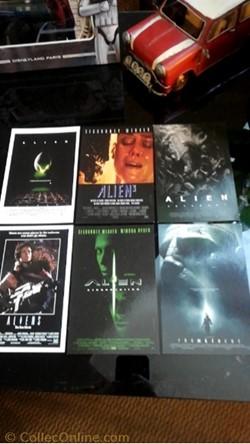 Cartes des affiches des films Aliens
