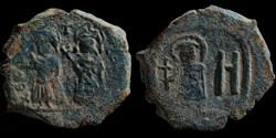 Follis de Phocas émis à Cherson (602-610...