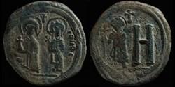 Follis de Tibère II Constantin et Ino An...