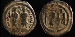 Follis de Maurice, Constantina et Théodo...