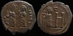 Follis de Justin II, Sophie et Tibère ém...