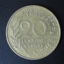 20 centimes 1981