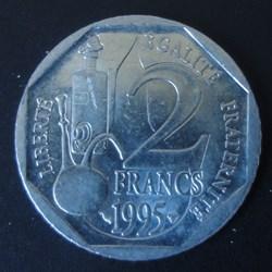 2 Francs Louis Pasteur 1995