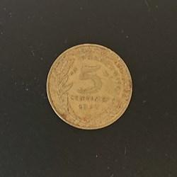 5 centimes 1972