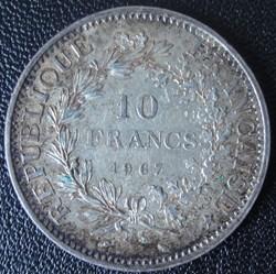 10 Francs Hercule 1967