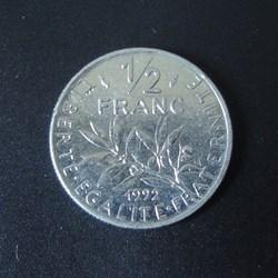 1/2 Franc 1992