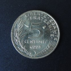 5 centimes 1998