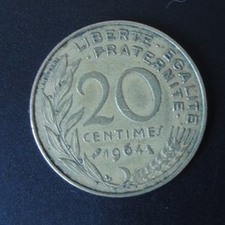 20 centimes 1964