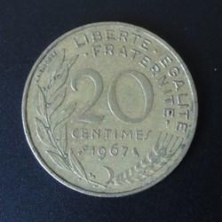 20 centimes 1967