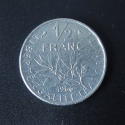1/2 Franc 1966