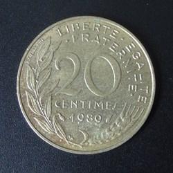 20 centimes 1989
