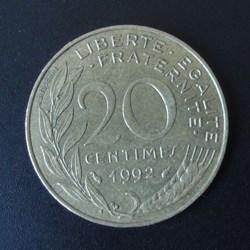 20 centimes 1992