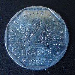 2 Francs Jean Moulin 1993