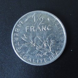 1/2 Franc 1969