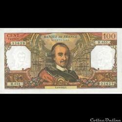 100 Francs Corneille 1972
