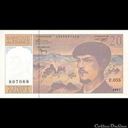 20 Francs Debussy 1997