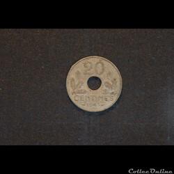 20 Cts Etat Francais 1943