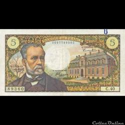 5 Francs Pasteur 1966