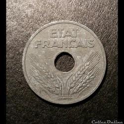 10 Cts Etat Françcais 1943