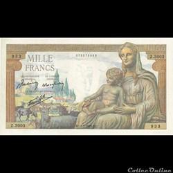 1000 Francs Demeter 1943