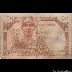 100 FRANC #34vf FRANCE 1955
