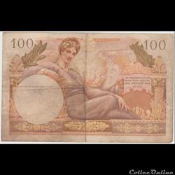 billet europe 100 franc 34vf france 1955