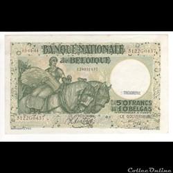 50 FRANC #106 BELGIQUE 1944