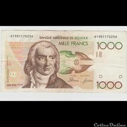 1.000 FRANC #144 BELGIQUE 1980