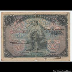 50 PESETAS #58 ESPAGNE 1906