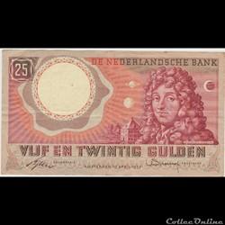 25 GULDEN #87 PAYS-BAS 1955