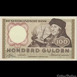100 GULDEN #88 PAYS-BAS 1953