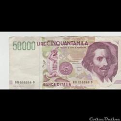 50.000 Lires  #116  ITALIE  1984 / 2em type