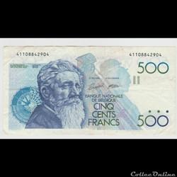 500 FRANC #143 BELGIQUE 1982