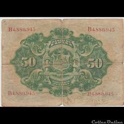 billet europe 50 pesetas 58 espagne 1906