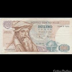 1.000 FRANC #136 BELGIQUE 1973