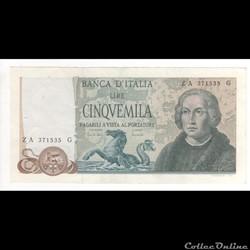 5.000 Lires  #102  ITALIE  1971