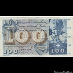 100 FRANC #49 SUISSE 1963