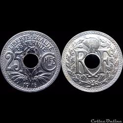 1916 - 25 cts souligné