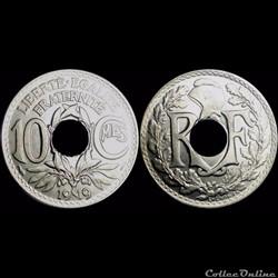 1919 - 10 cts non souligné - Paris