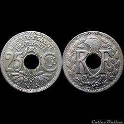 1914 - 25 cts souligné