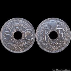 1922 - 05 cts petit module - Paris
