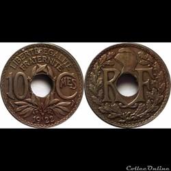 1922 - 10 cts - Poissy