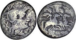 130/1a. Anonymous - denarius (206-200 BC...