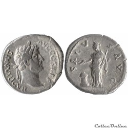 3.268d. Hadrian - denarius (Salus)