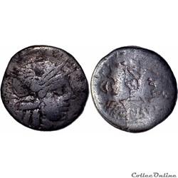 278/1. Plutia - denarius (121 BC)