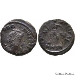 42.086b. Theodosius - AE4 - Constantinop...