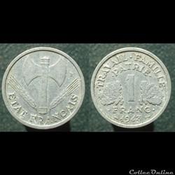 Etat français, 1 franc, 1943