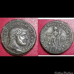 Dioclétien - follis/nummus - Sacra Moneta - Siscia (faux moderne)